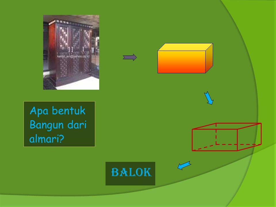 Apa bentuk Bangun dari almari BALOK