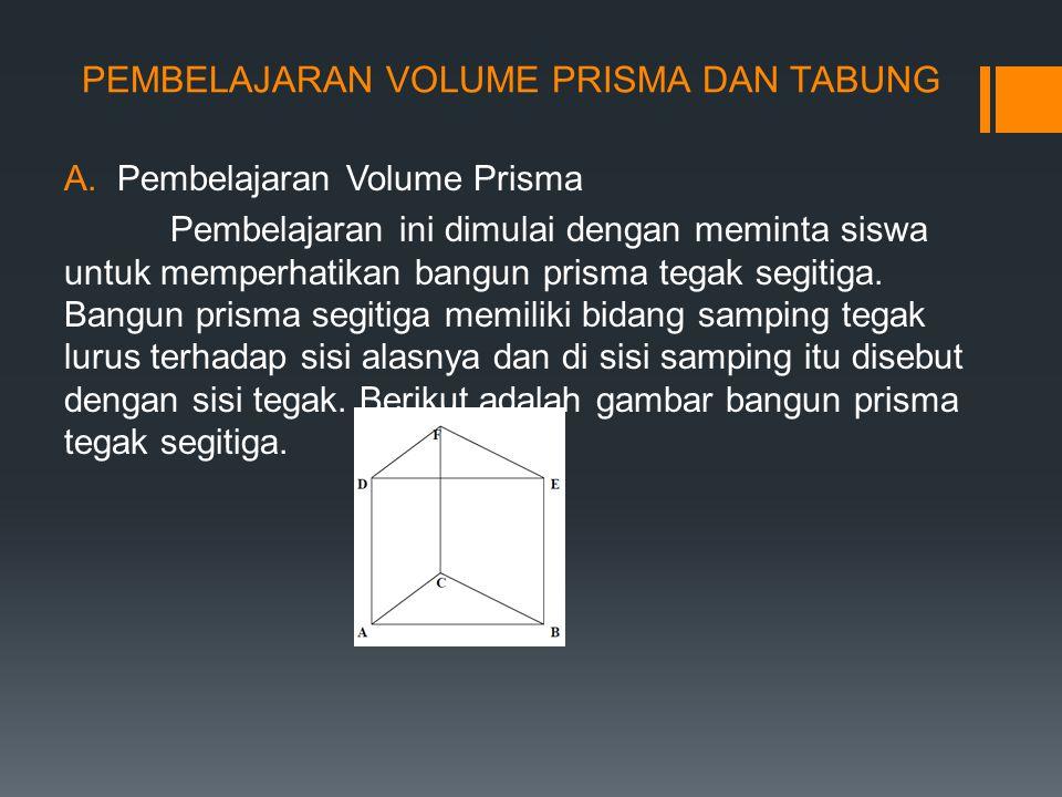 PEMBELAJARAN VOLUME PRISMA DAN TABUNG