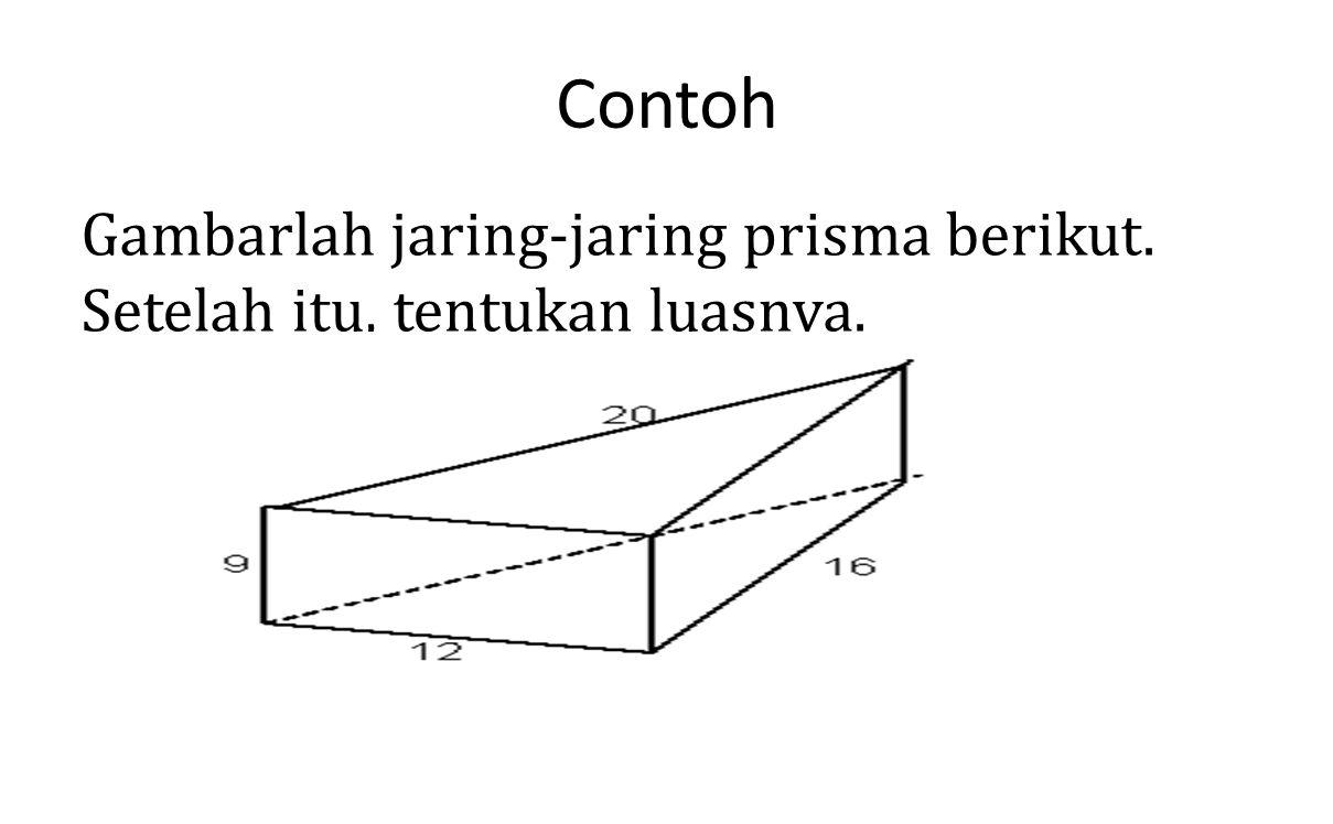 Contoh Gambarlah jaring-jaring prisma berikut.