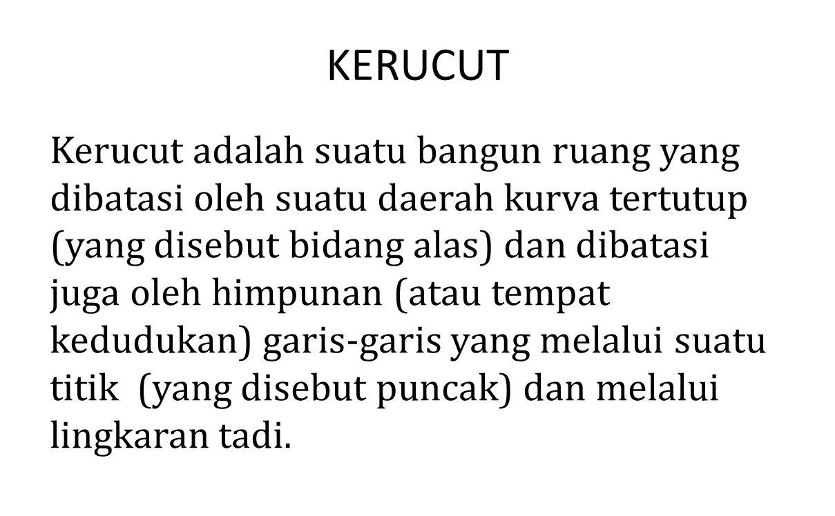 KERUCUT