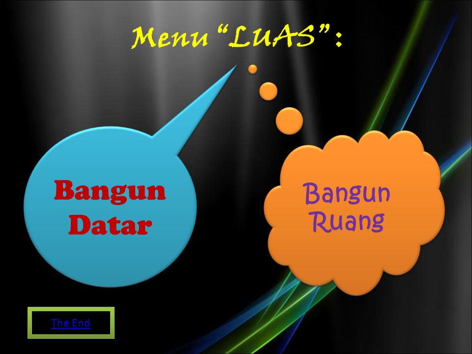 Menu LUAS : Bangun Datar Bangun Ruang The End
