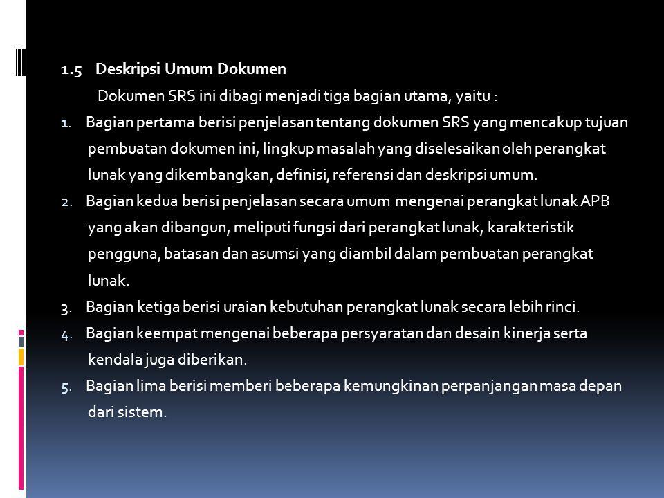 1.5 Deskripsi Umum Dokumen