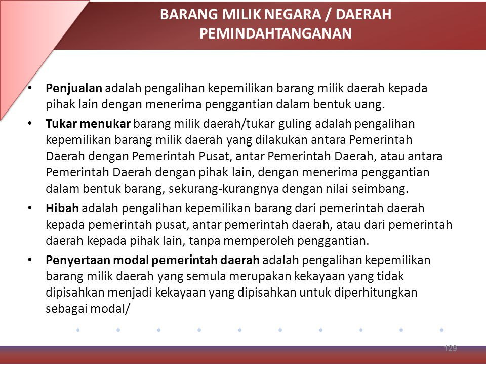 BARANG MILIK NEGARA / DAERAH