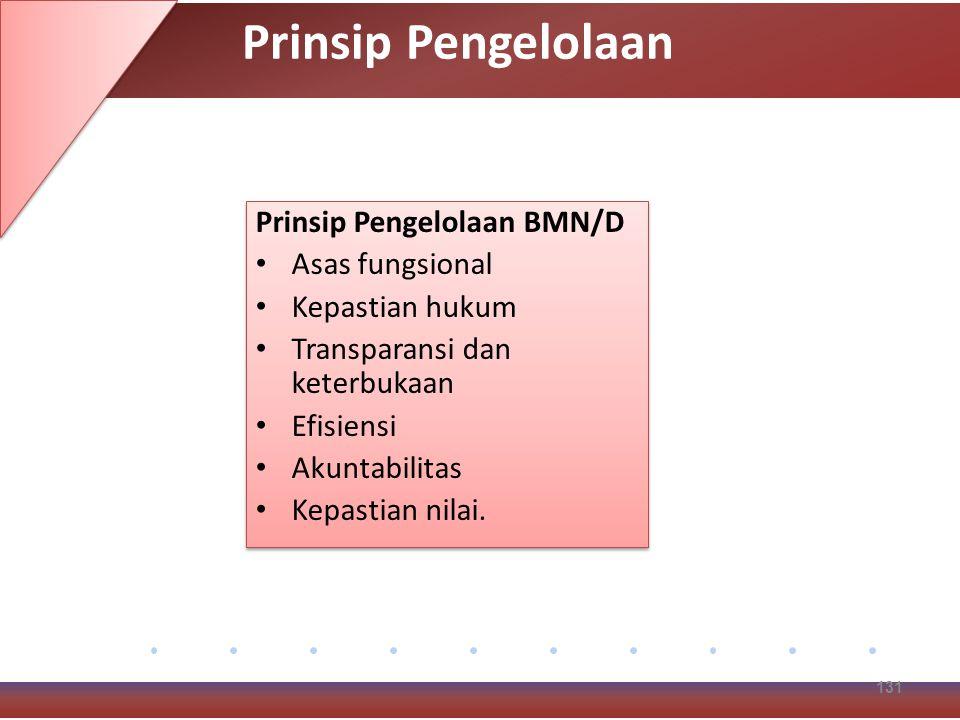 Prinsip Pengelolaan Prinsip Pengelolaan BMN/D Asas fungsional