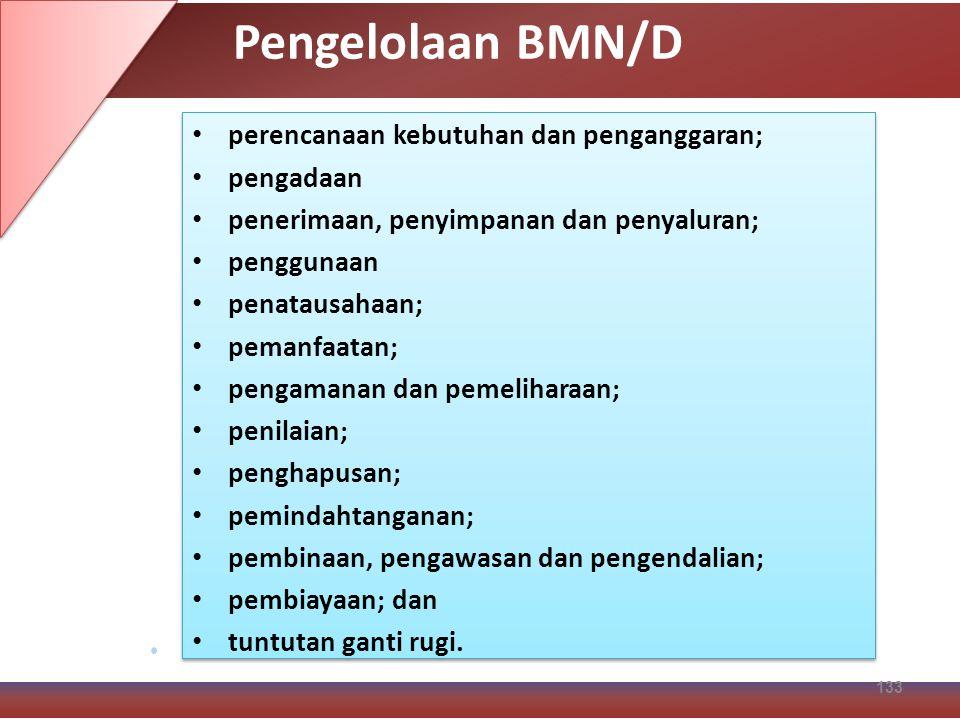 Pengelolaan BMN/D perencanaan kebutuhan dan penganggaran; pengadaan