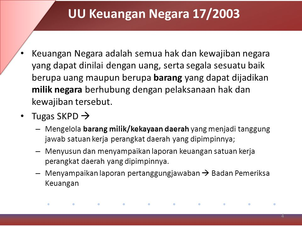 UU Keuangan Negara 17/2003
