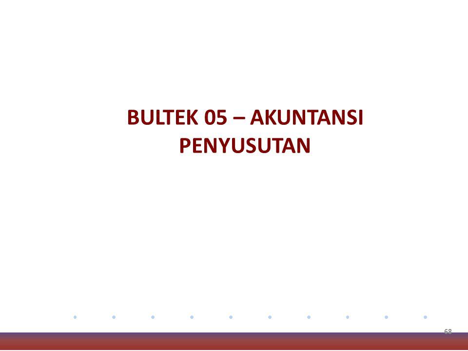 BULTEK 05 – AKUNTANSI PENYUSUTAN