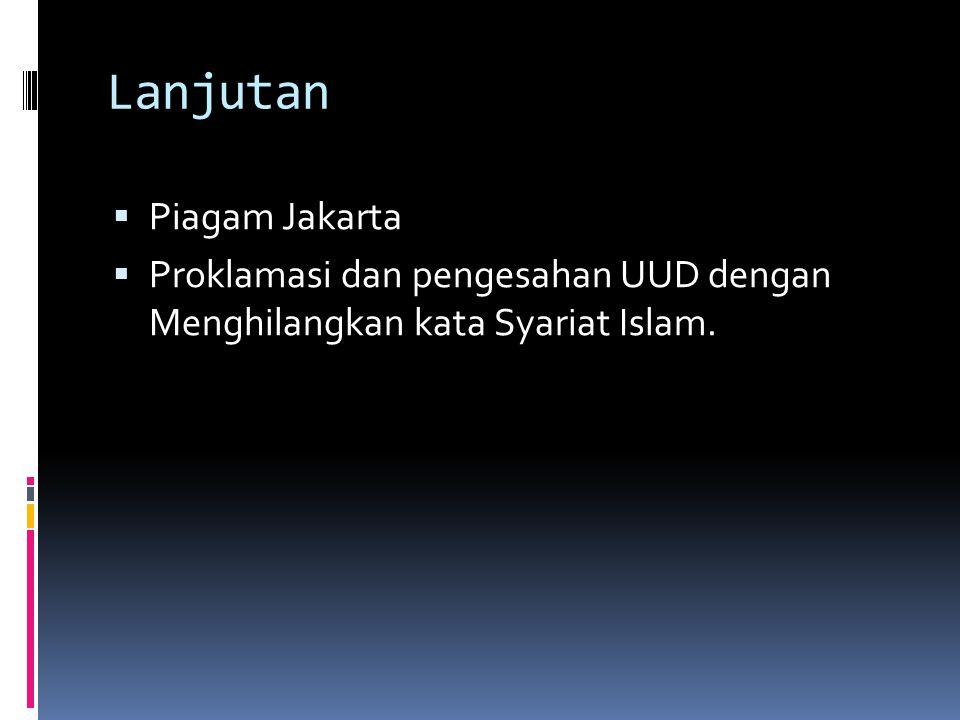 Lanjutan Piagam Jakarta