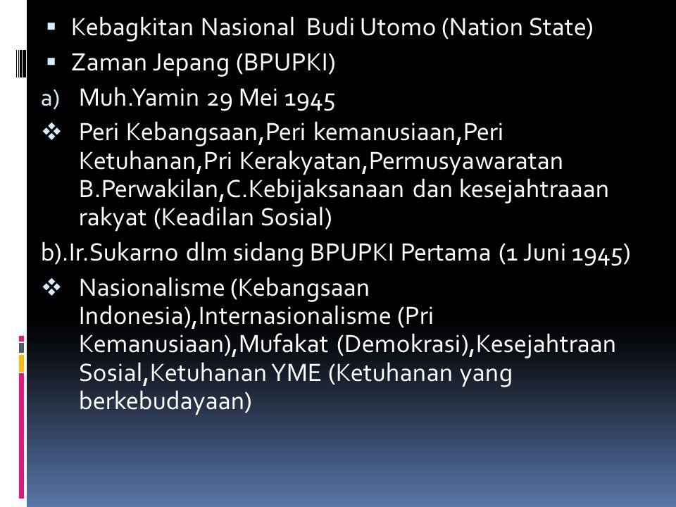 Kebagkitan Nasional Budi Utomo (Nation State)