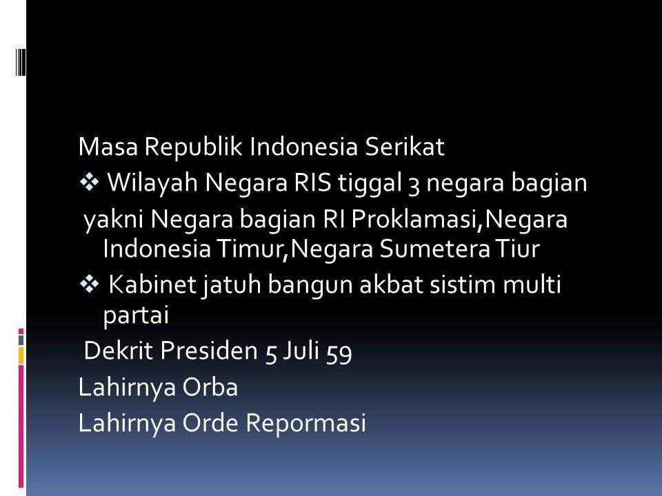 Masa Republik Indonesia Serikat