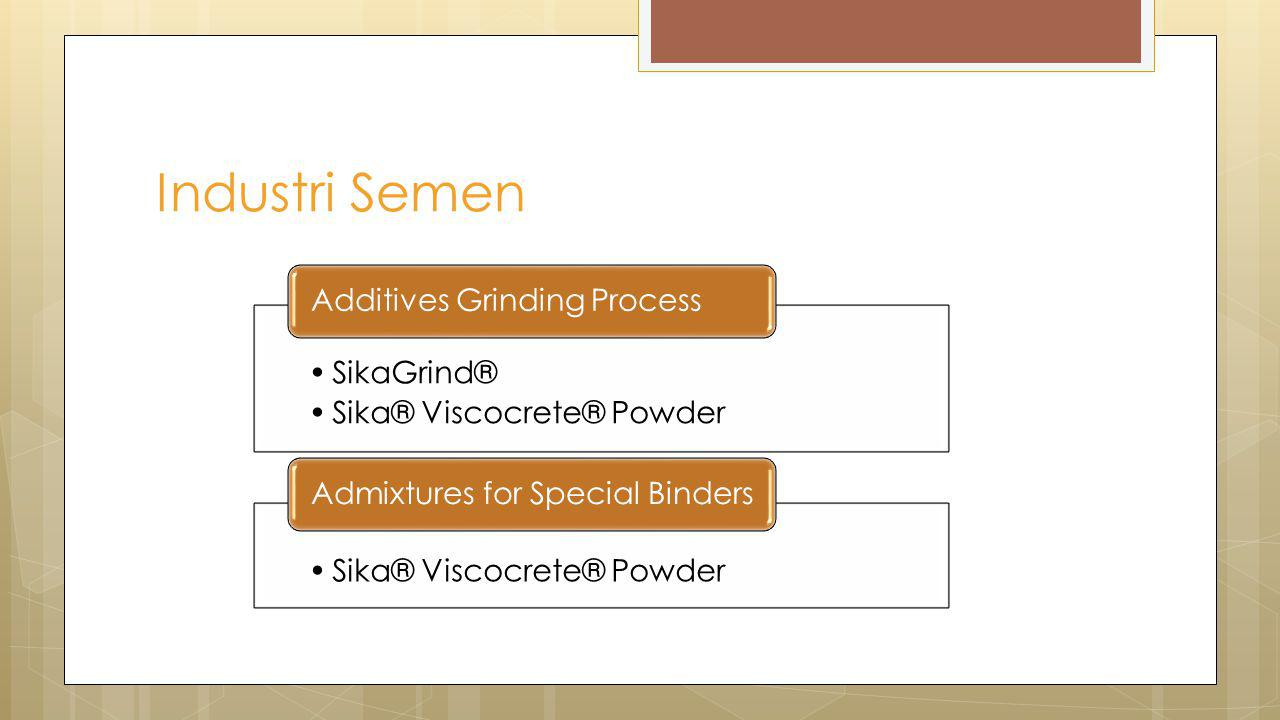 Industri Semen SikaGrind® Sika® Viscocrete® Powder