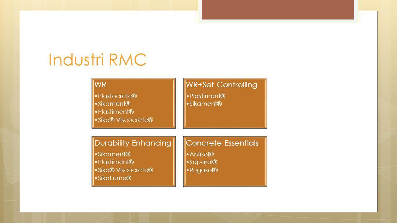 Industri RMC WR WR+Set Controlling Durability Enhancing