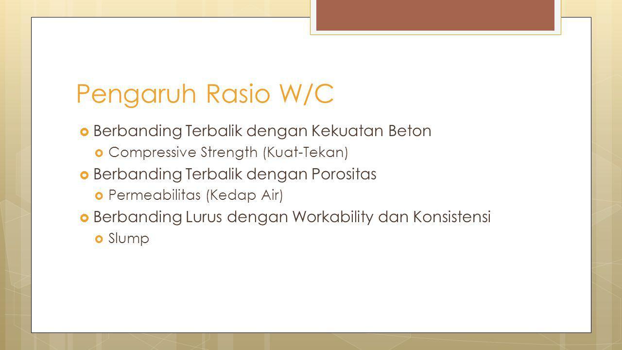 Pengaruh Rasio W/C Berbanding Terbalik dengan Kekuatan Beton