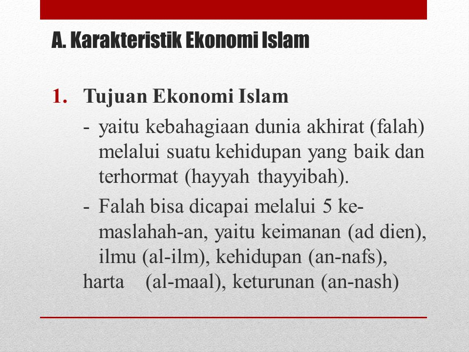 A. Karakteristik Ekonomi Islam