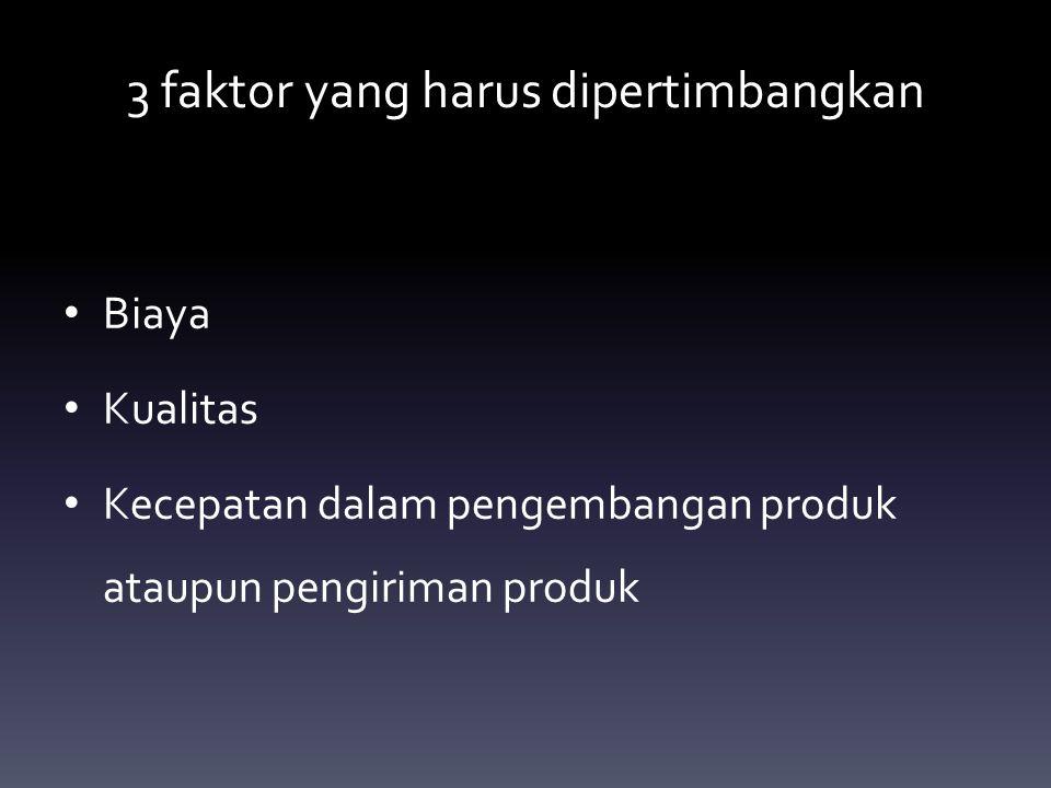 3 faktor yang harus dipertimbangkan