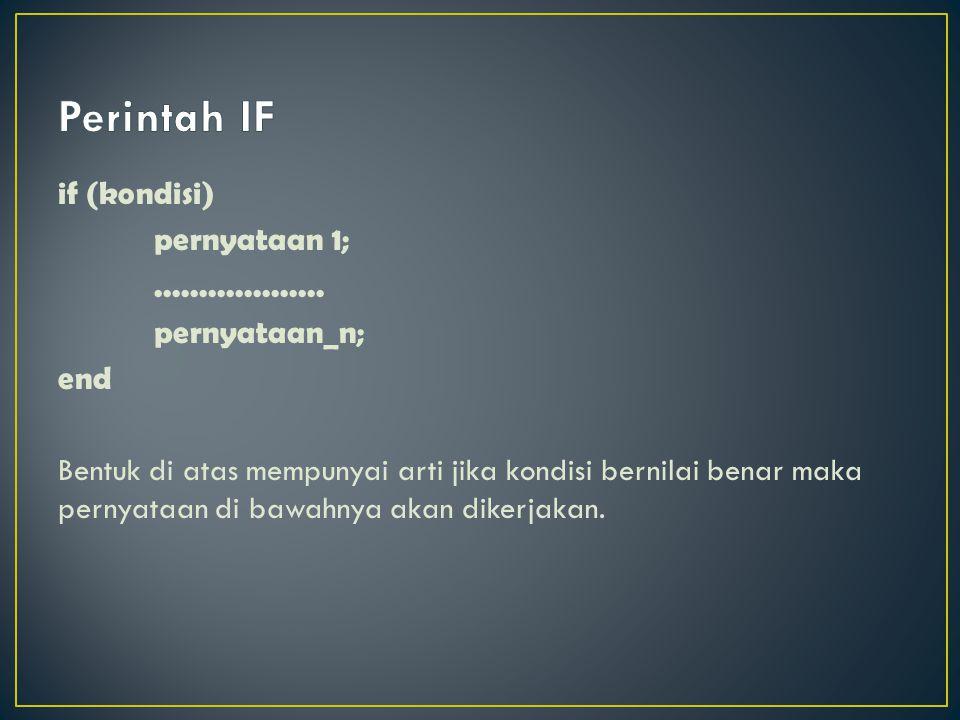Perintah IF