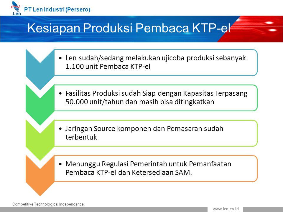 Kesiapan Produksi Pembaca KTP-el