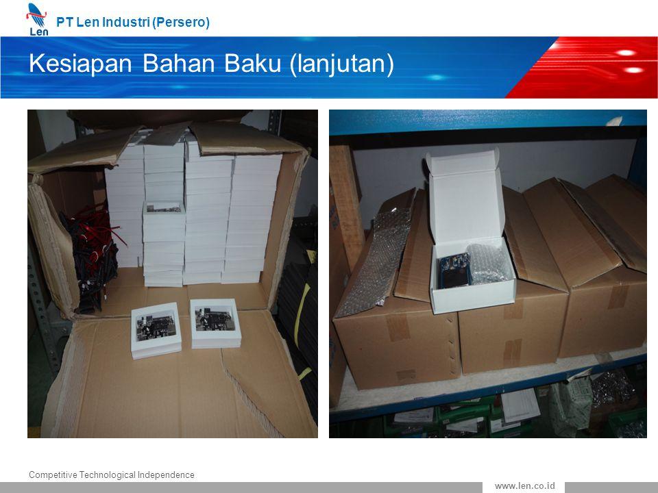 Kesiapan Bahan Baku (lanjutan)