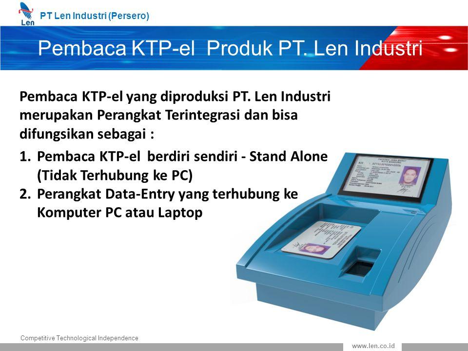 Pembaca KTP-el Produk PT. Len Industri