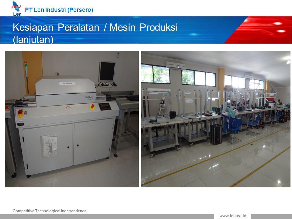 Kesiapan Peralatan / Mesin Produksi (lanjutan)