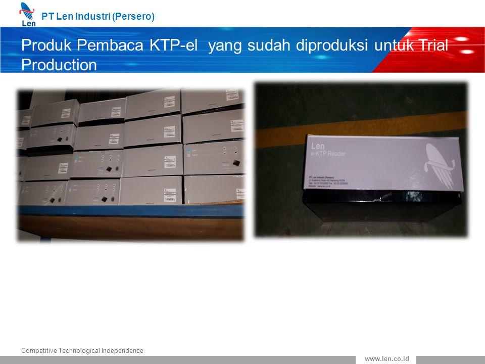 Produk Pembaca KTP-el yang sudah diproduksi untuk Trial Production