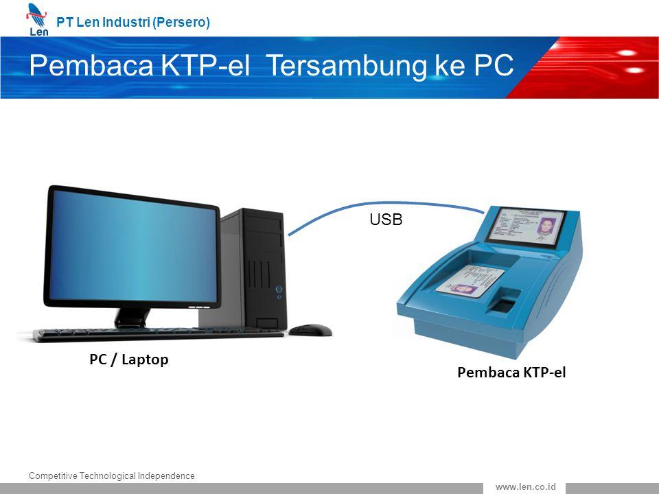 Pembaca KTP-el Tersambung ke PC