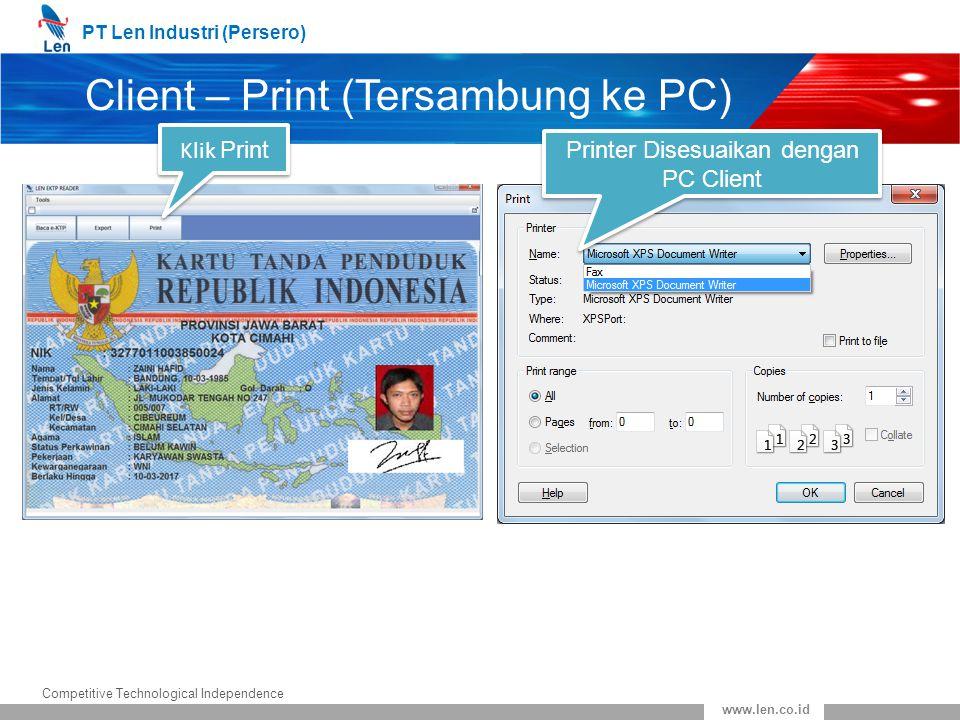 Client – Print (Tersambung ke PC)