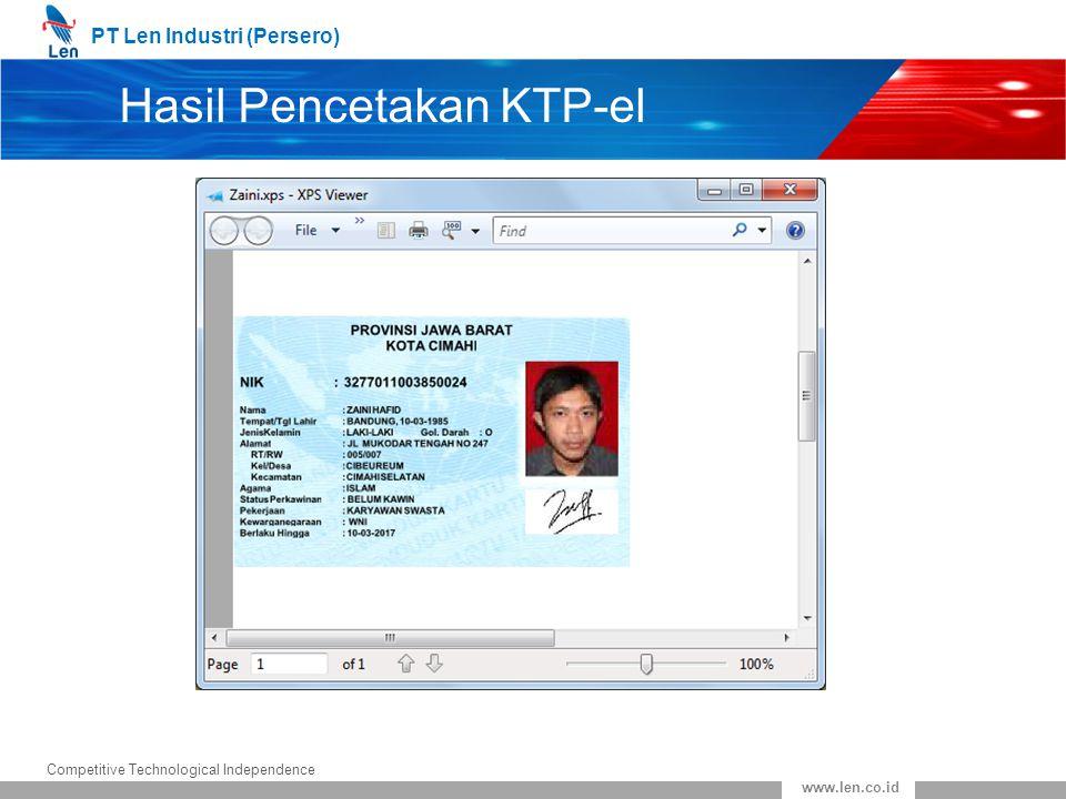 Hasil Pencetakan KTP-el