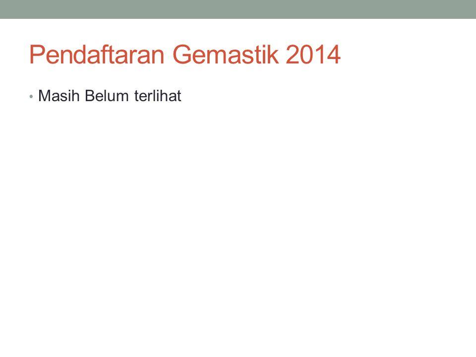 Pendaftaran Gemastik 2014 Masih Belum terlihat