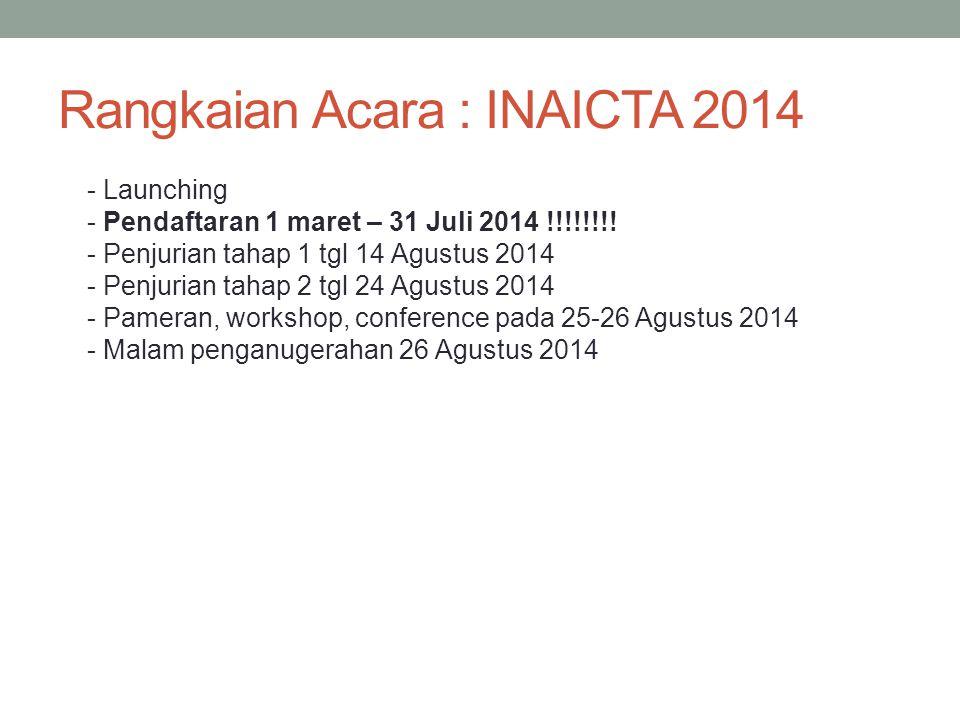 Rangkaian Acara : INAICTA 2014