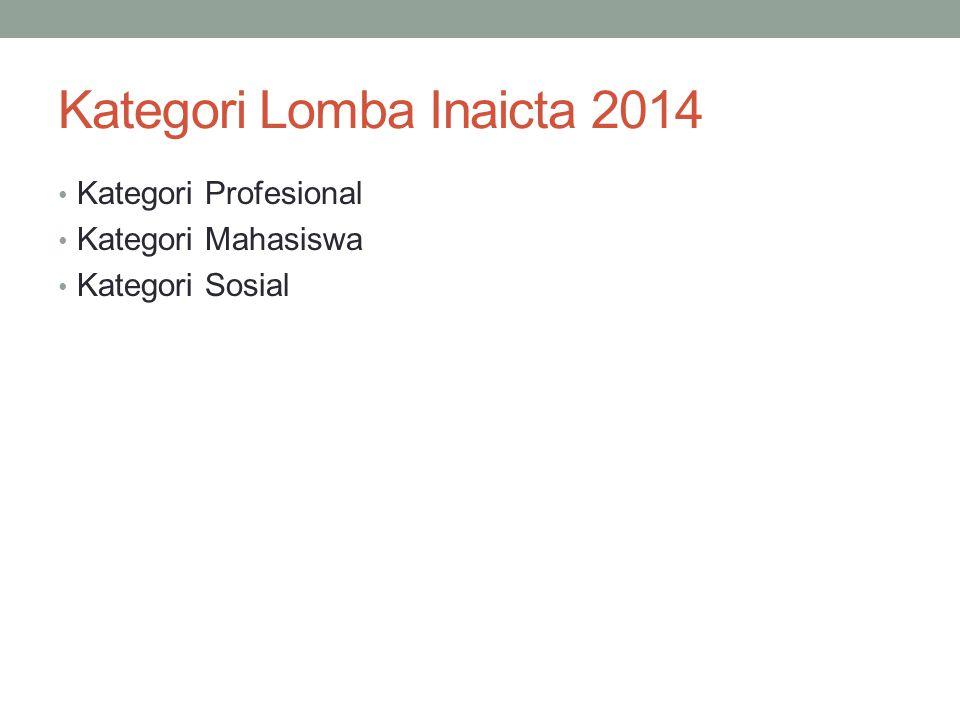 Kategori Lomba Inaicta 2014