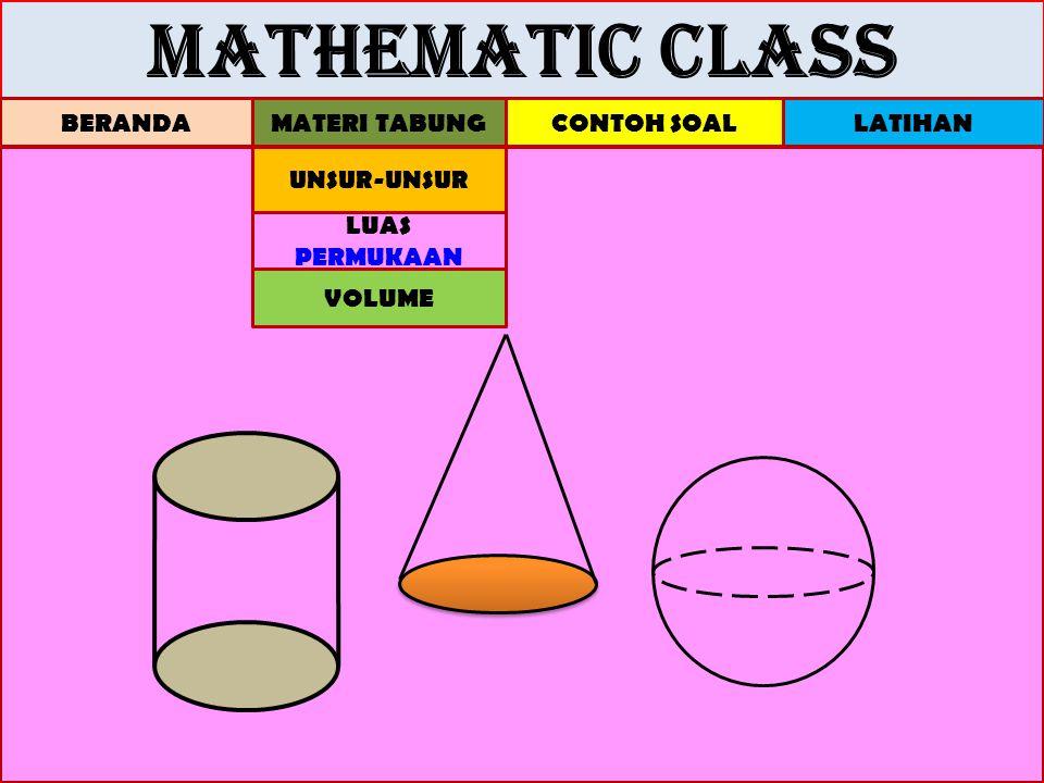 MATHEMATIC CLASS BERANDA MATERI TABUNG CONTOH SOAL LATIHAN