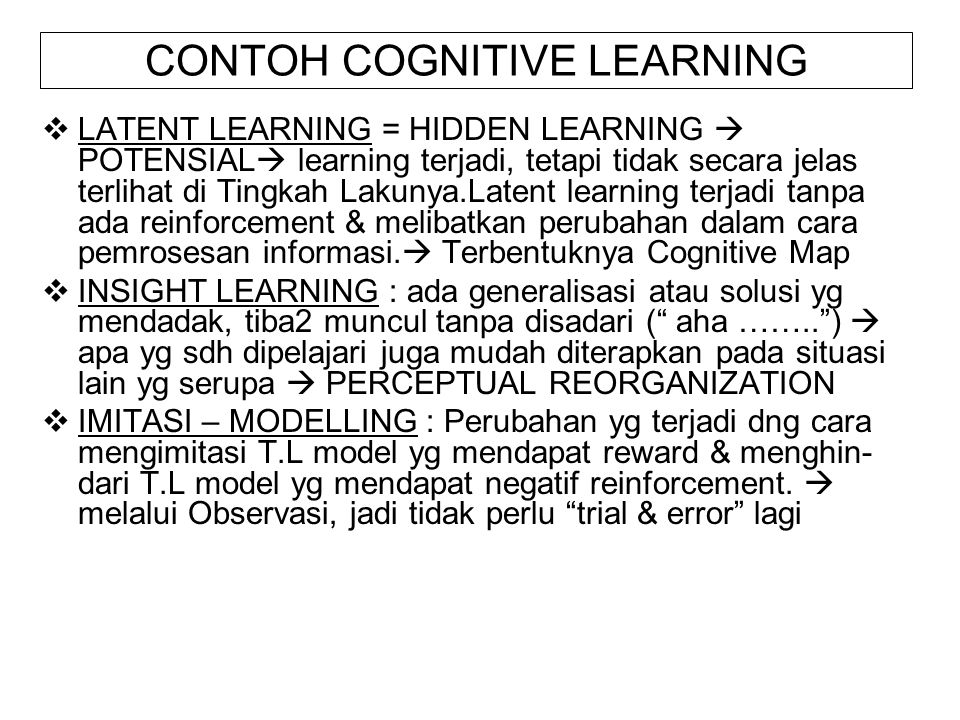 CONTOH COGNITIVE LEARNING