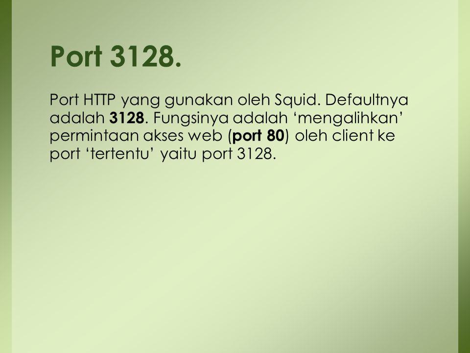Port 3128.