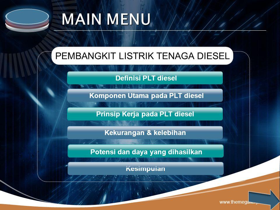 Komponen Utama pada PLT diesel