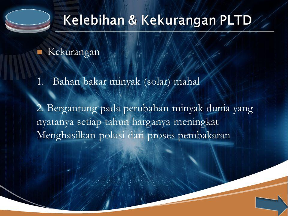 Kelebihan & Kekurangan PLTD