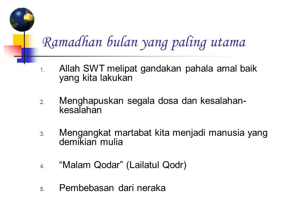 Ramadhan bulan yang paling utama