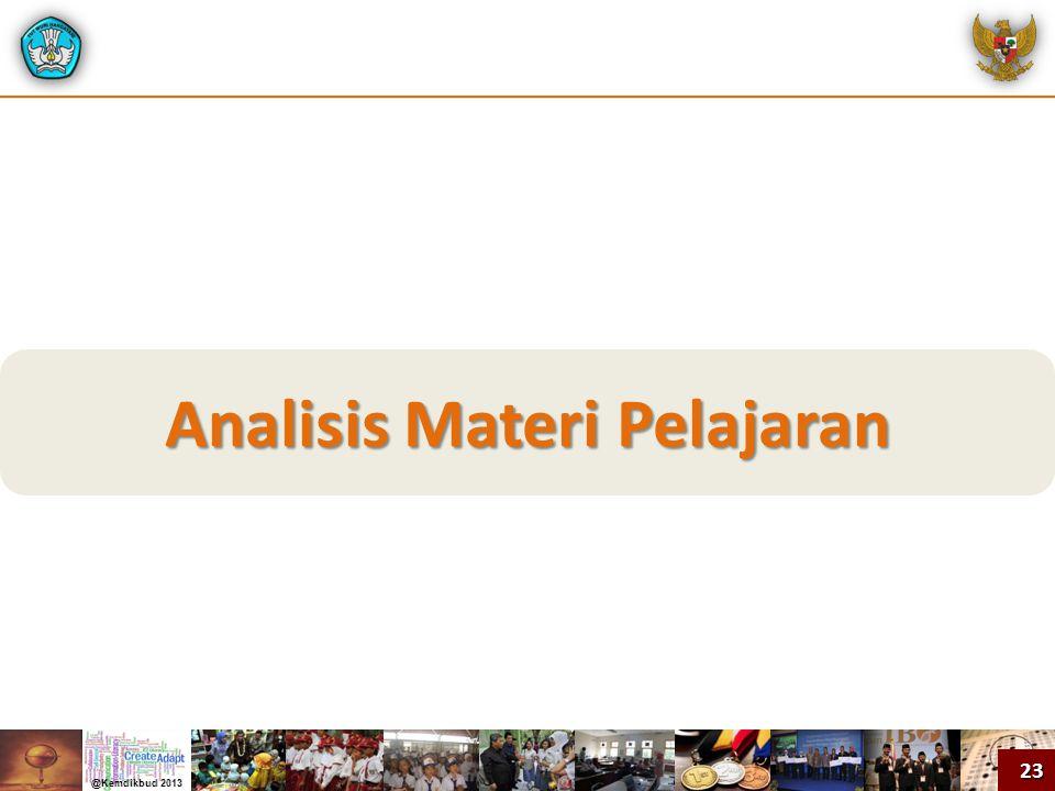 Analisis Materi Pelajaran
