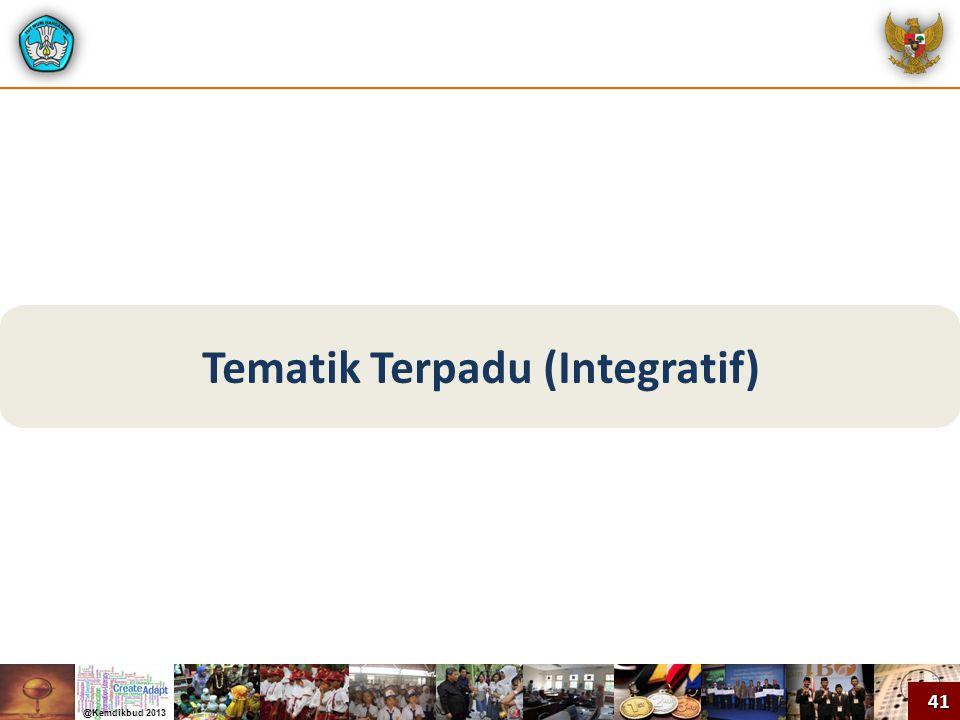 Tematik Terpadu (Integratif)