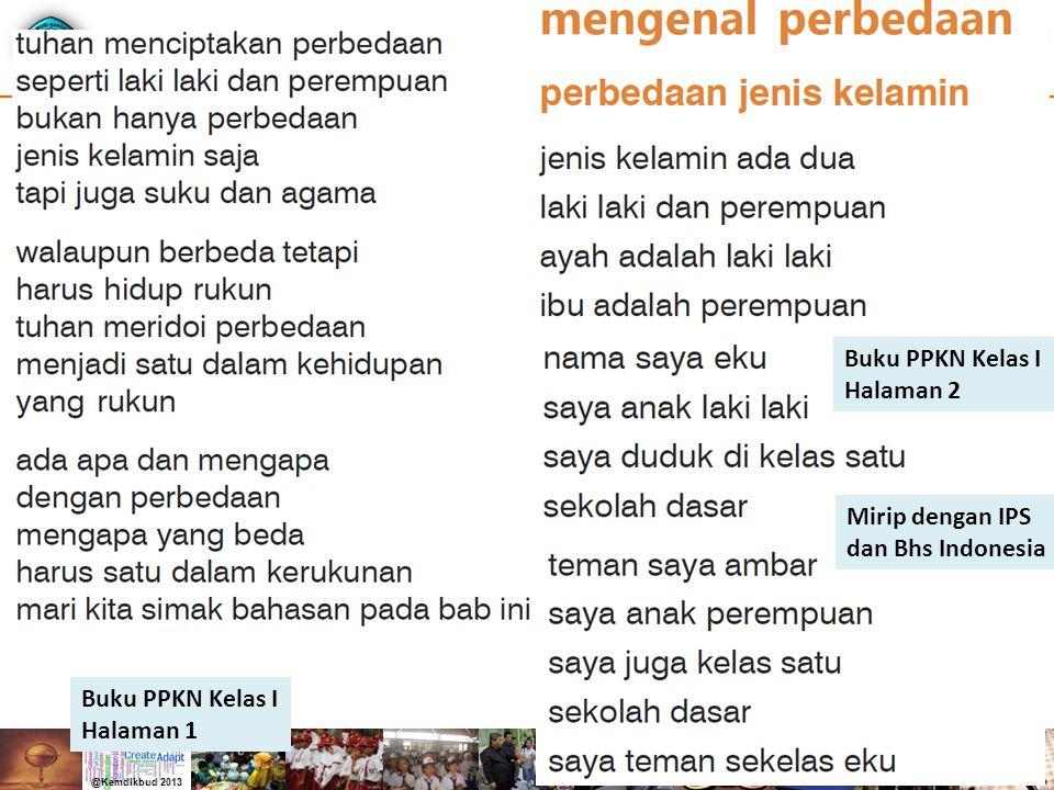 Buku PPKN Kelas I Halaman 2 Mirip dengan IPS dan Bhs Indonesia Buku PPKN Kelas I Halaman 1