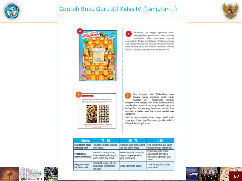 Contoh Buku Guru SD Kelas IV (Lanjutan ..)