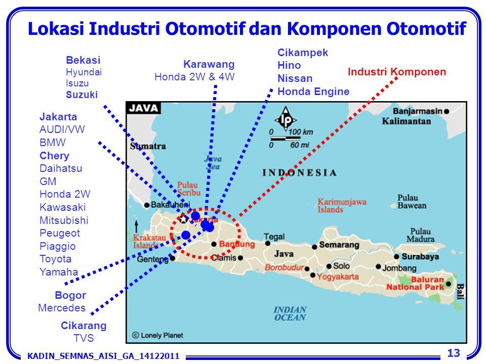 Lokasi Industri Otomotif dan Komponen Otomotif