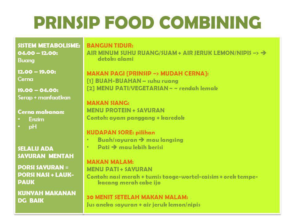 PRINSIP FOOD COMBINING