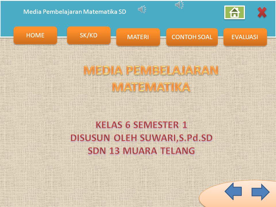 MEDIA PEMBELAJARAN MATEMATIKA DISUSUN OLEH SUWARI,S.Pd.SD