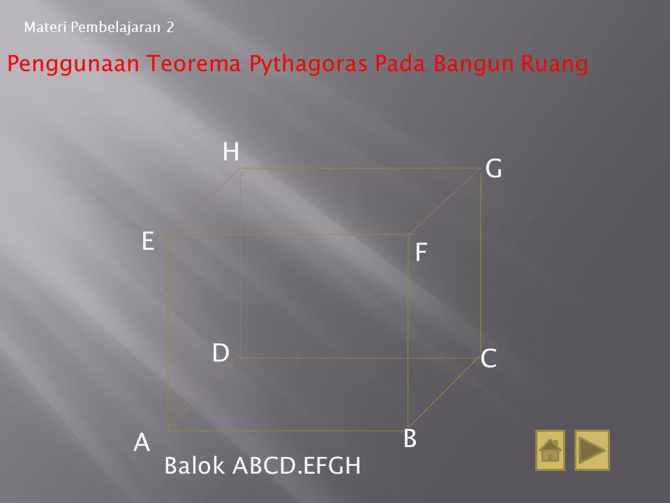 H G E F D C A B Balok ABCD.EFGH