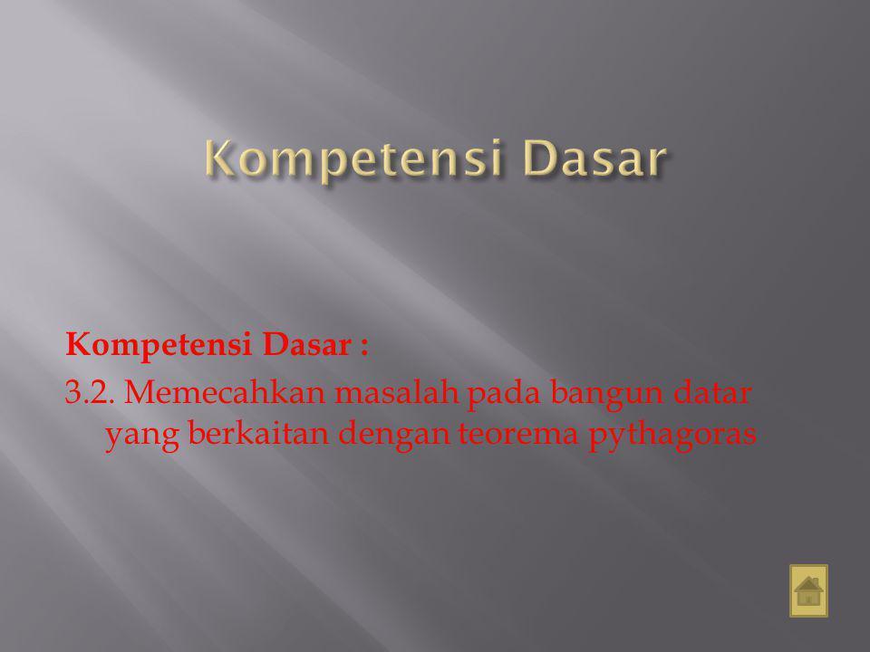 Kompetensi Dasar Kompetensi Dasar : 3.2.