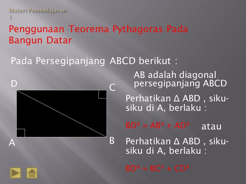 Penggunaan Teorema Pythagoras Pada Bangun Datar