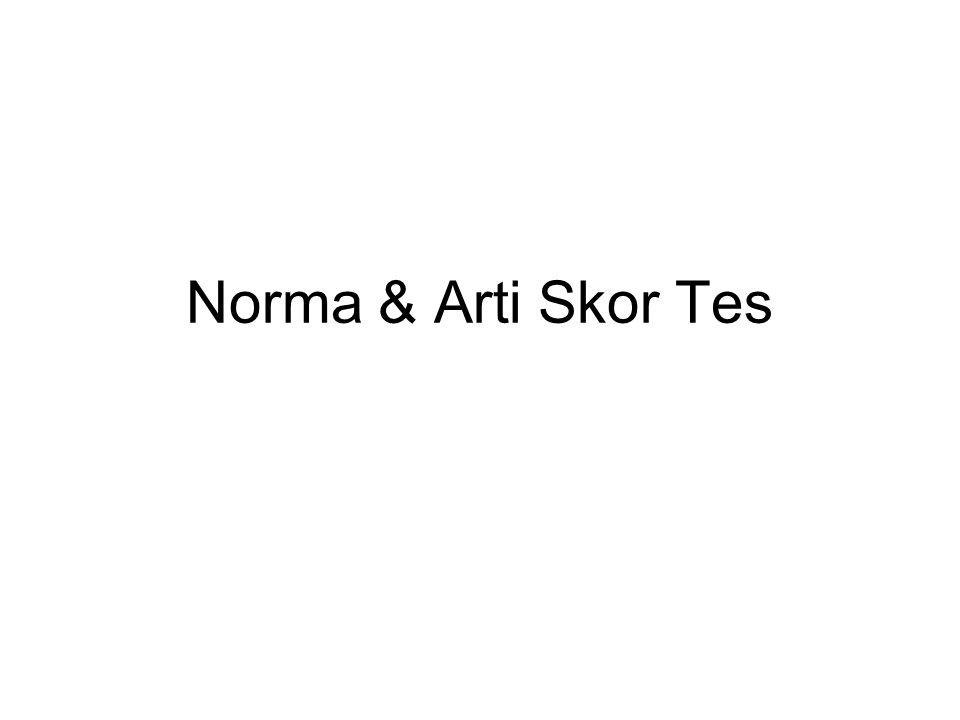 Norma & Arti Skor Tes