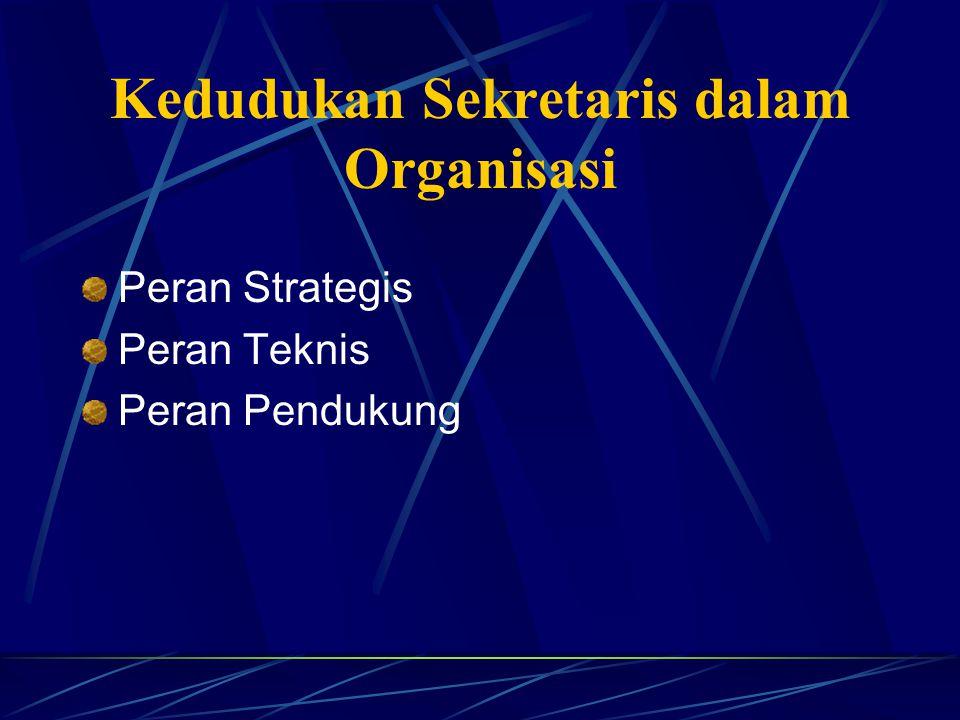 Kedudukan Sekretaris dalam Organisasi
