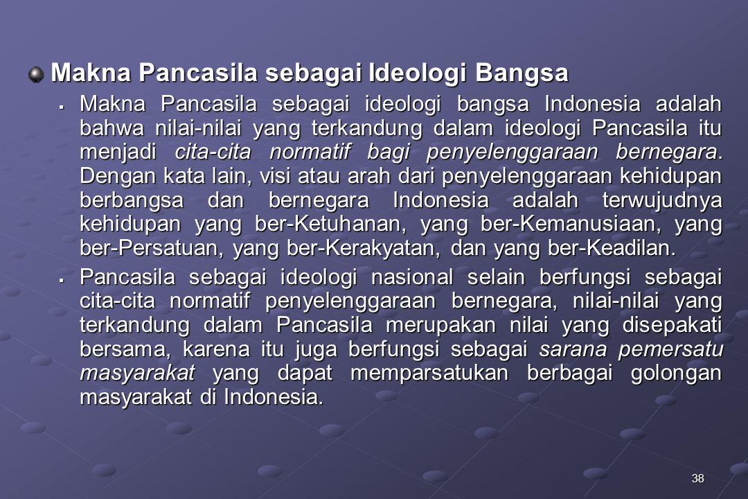 Makna Pancasila sebagai Ideologi Bangsa